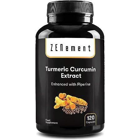 Extracto de Raíz de Cúrcuma con Pimienta Negra   6100 mg de Cúrcuma por cápsula, 120 cápsulas   Potente antioxidante, para la salud de las articulaciones   Ingredientes 100% Natural, No GMO