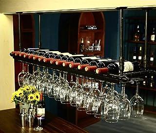JFFFFWI Casier à vin Suspendu Casier à vin, casier à vin de Style européen Casier à Bouteilles en métal créatif Fer Suppor...