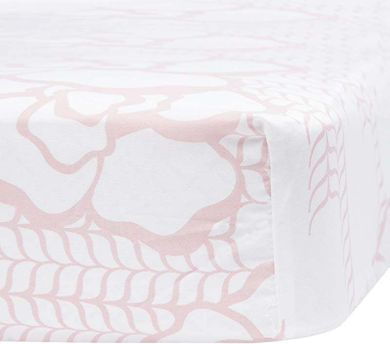 Oilo Capri Jersey Crib Sheet Blush