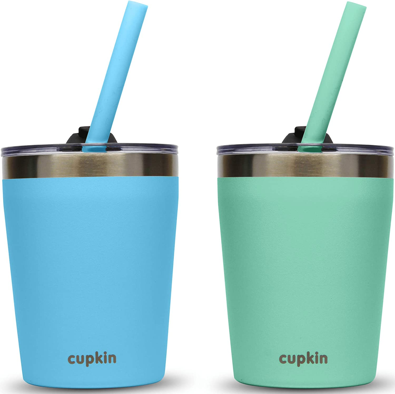 Cupkin Stackable Stainless Steel Kids Tu Fixed price for sale Inventory cleanup selling sale Training Cups Smoothie