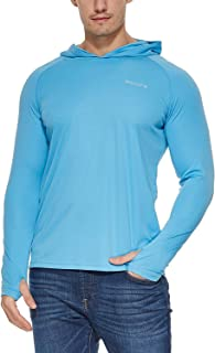 Men's UPF 50+ Sun Protection Hoodie Long Sleeve Performance Hiking/Fishing T-Shirt