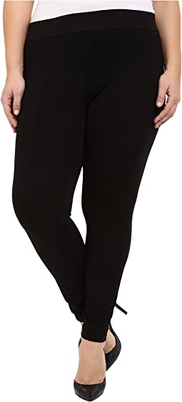 HUE - Plus Size Styletech High Waist Blackout Ponte Leggings