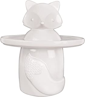 Talisman Designs 6055 Party Animal Fox Ceramic Treat Jar, White