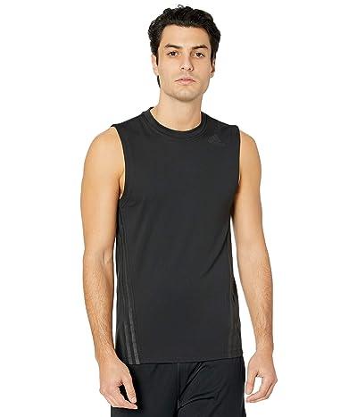adidas Aero 3-Stripes Sleeveless Tee (Black) Men