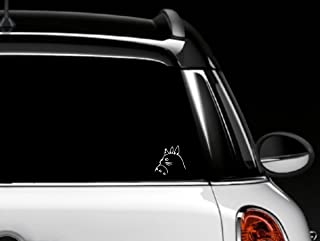 Totoro with Friend Car/Wall/Laptop White Decal