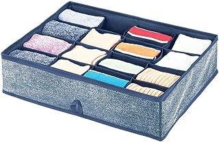 mDesign Boite de Rangement – Rangement tiroir avec 16 Compartiments pour Une Organisation minutieuse – Rangement vêtement...