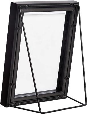 AmazonBasics Wedge Floating Photo Frame for 4 x 6 Inch Photos - Thick Frame, Black