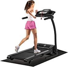 ZELUS 1100W Folding Treadmill Electric Motorized Running Machine with Downloadable Sports App Control Walking and Running, Cup Holder, MP3 Player and Wheels Easy (Upgraded Treadmill with Mat)