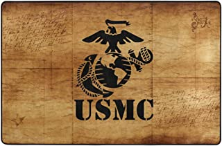 Eagle Globe Anchor USMC Marine Corps Skid Proof Carpets Rugs for Indoor/Outdoor Area Rug 36