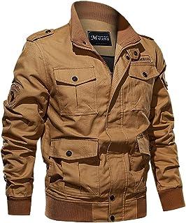 Sunward Men's Autumn Winter Military Pure Color Multi-pocket Tactical Breathable Jacket