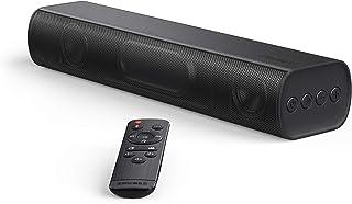 サウンドバー TV スピーカー 30W Bluetooth5.0 /光デジタル/3.5mm リモコン付 パソコンスピーカー コンパクトOPT/AUX対応 壁掛け可 (30w)