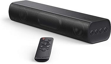 Soundbar, SAKOBS 16-Inch 2.0 Sound bar, 105dB, 3D Surround Sound, Wired & Wireless Bluetooth 5.0 Sound Bars for TV, Optica...