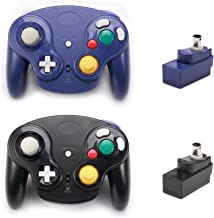 $44 » Poulep Classic 2.4G Wireless Controller Gamepad with Receiver Adapter, Compatible with for Wii Gamecube NGC GC(Black and P...