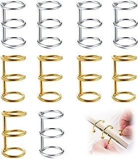 otutun Anneaux de Livre, 10 Pcs Anneaux à Feuilles Mobiles Reliure à Feuilles Mobiles en Métal,Classeur à anneaux Pour Alb...