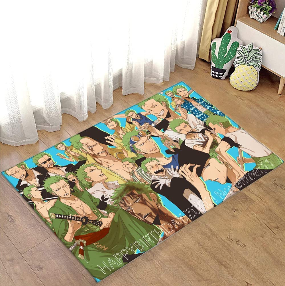 New product!! Cartoon One Piece Printed Floor Luffy Anime Mats Rugs Excellence Anti-Slip