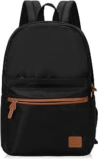 Veegul Lightweight School Backpack Classic Bookbag for Girls Boys (Black-2)