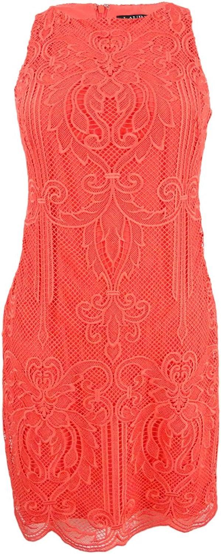 Lauren Ralph Lauren Womens Plus Lace Scalloped Casual Dress
