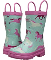 Hatley Kids - Ponies and Polka Dots Rain Boots (Toddler/Little Kid)