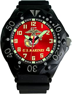 U.S. Marine Corps Etched Dial Mens Dive Watch - 200m Water Resistant