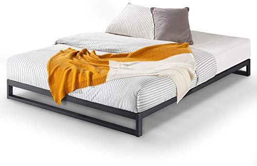 Zinus Trisha Queen Bed Frame Base 18cm Steel - Heavy Duty Metal Frame - Black