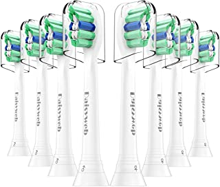Replacement Toothbrush Heads Compatible with Philips Sonicare ProResults Plaque Control Electric Toothbrush HX9023/64, 8Pack, Fit Sonicare 2 Series Plaque Control, HealthyWhite by Jibitee