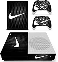 Adventure Games - XBOX ONE S - Nike, Black Hexagon - Vinyl Console Skin Decal Sticker + 2 Controller Skins Set