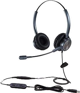 VOPTECH 【国内正規品】 両耳ヘッドセット DXモデル UC809D (Silver) USB ノイズキャンセリング マイク付き テレワーク web会議 1年間メーカー保証