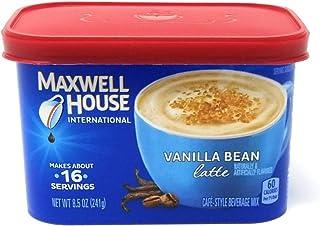Maxwell House International Coffee Vanilla Bean Latte, 8.5 oz (Pack of 4)