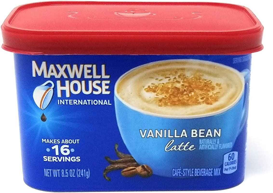 Maxwell House International Coffee Vanilla Bean Latte 8 5 Oz Pack Of 4