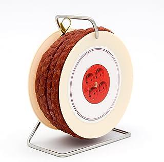 WURSTBARON Wurst Kabeltrommel - 3,5 Meter Wurst nach Krakauer Art auf einer Mini Kabel-Trommel - 240 g