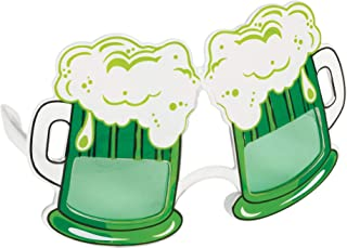 amscan Fun Glasses Green Beer St. Patrick's Day-16.51cm x 9.5cm-1 Pc