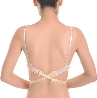 ed26c99e Closecret Sujetador Ajustable de Espalda Baja para Mujer Correas de  Conversión 2 Ganchos (Paquete de