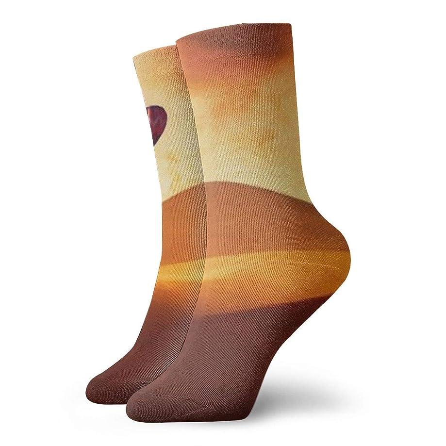Flying Over The Desert By Hot Air Balloon Personalized Custom Design Socks For Men And Women,Party Socks, Eye-catching Socks,Show Unique Taste Socks,Funny Socks Crazy Socks Casual Cotton Socks