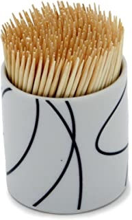 Chef Craft 21515 350-Piece Toothpicks with Ceramic Holder (Design May Vary)