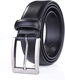 Weifert Men's Dress Belt Black Leather Belts for Jeans