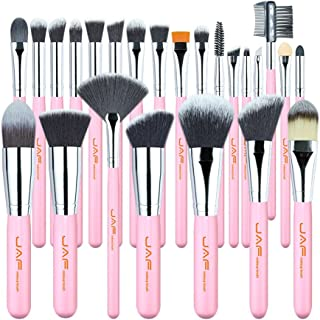24 pcs Pink Makeup Brushes Super Soft Synthetic Hair Skin-friendly Professional Make Up Full Functions Brush Set J2420Y-P Makeup Brushes & Tools