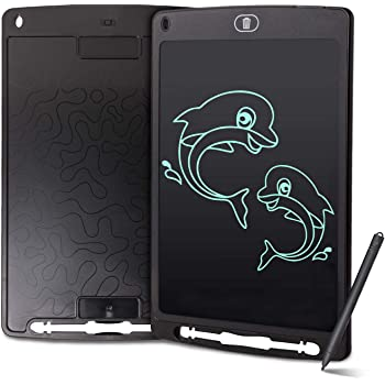 Teerwere LCD Tablet Drawing Board Doodle Board 10 Inches Handwriting Paper Drawing Tablet Gift for Kids Portable LCD Writing Tablet LCD Writing Tablet Board Color : Black, Size : 10 inches