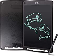 LCD Boogie Board Writing Tablet - Sharemore 10 inch Electronic Drawing Doodle Graphics Board for Kids Adults, Digital Handwriting Pads with Smart Stylus & Memory Lock for Home School Office (Black)