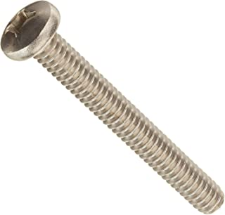 5//8 Length Pan Head Fully Threaded Meets MS 51958 300 Series Stainless Steel Machine Screw Phillips Drive Passivated Finish #10-32 UNF Threads Pack of 50