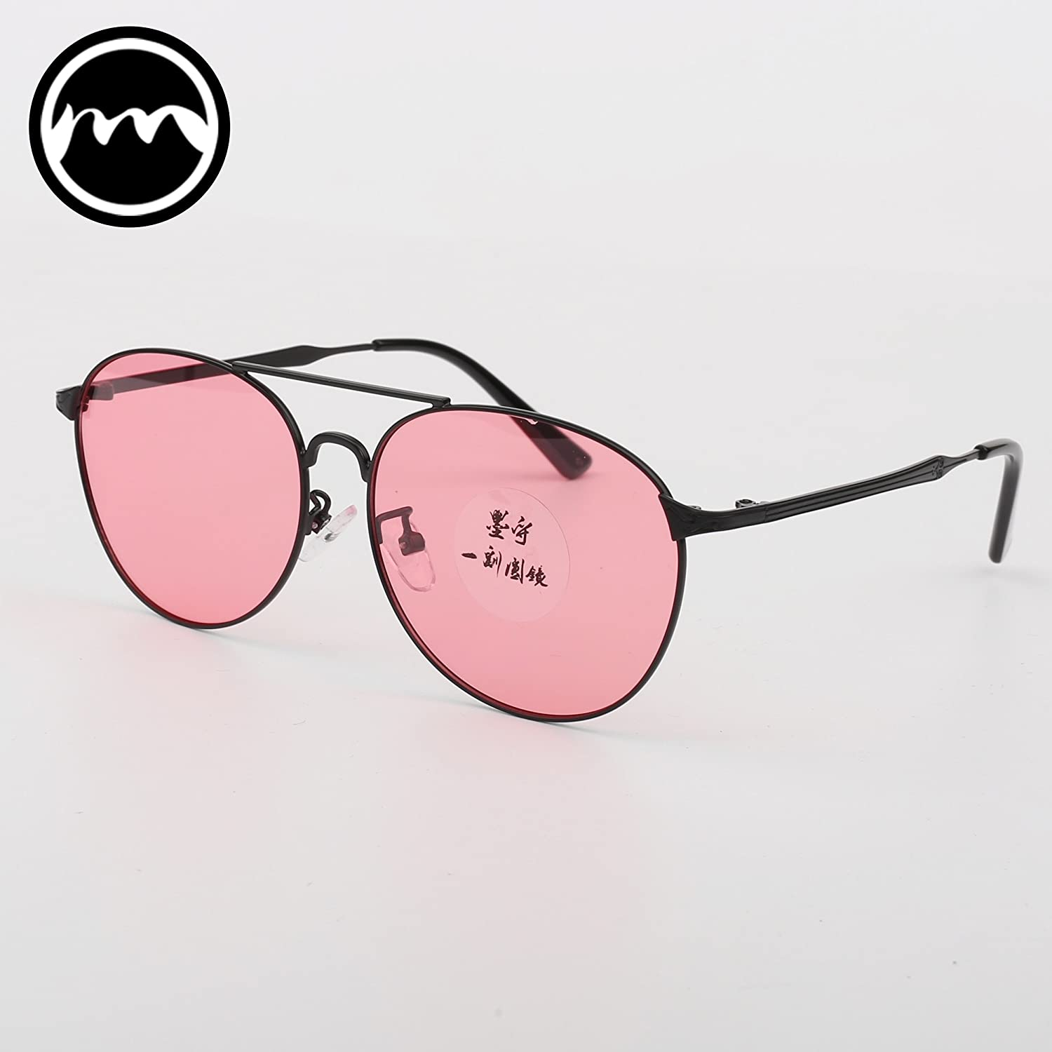 VVIIYJ color Transparent Frog Mirror Female Sunglasses Light colord Sunglasses colord Glasses Night Vision Polarizer Male