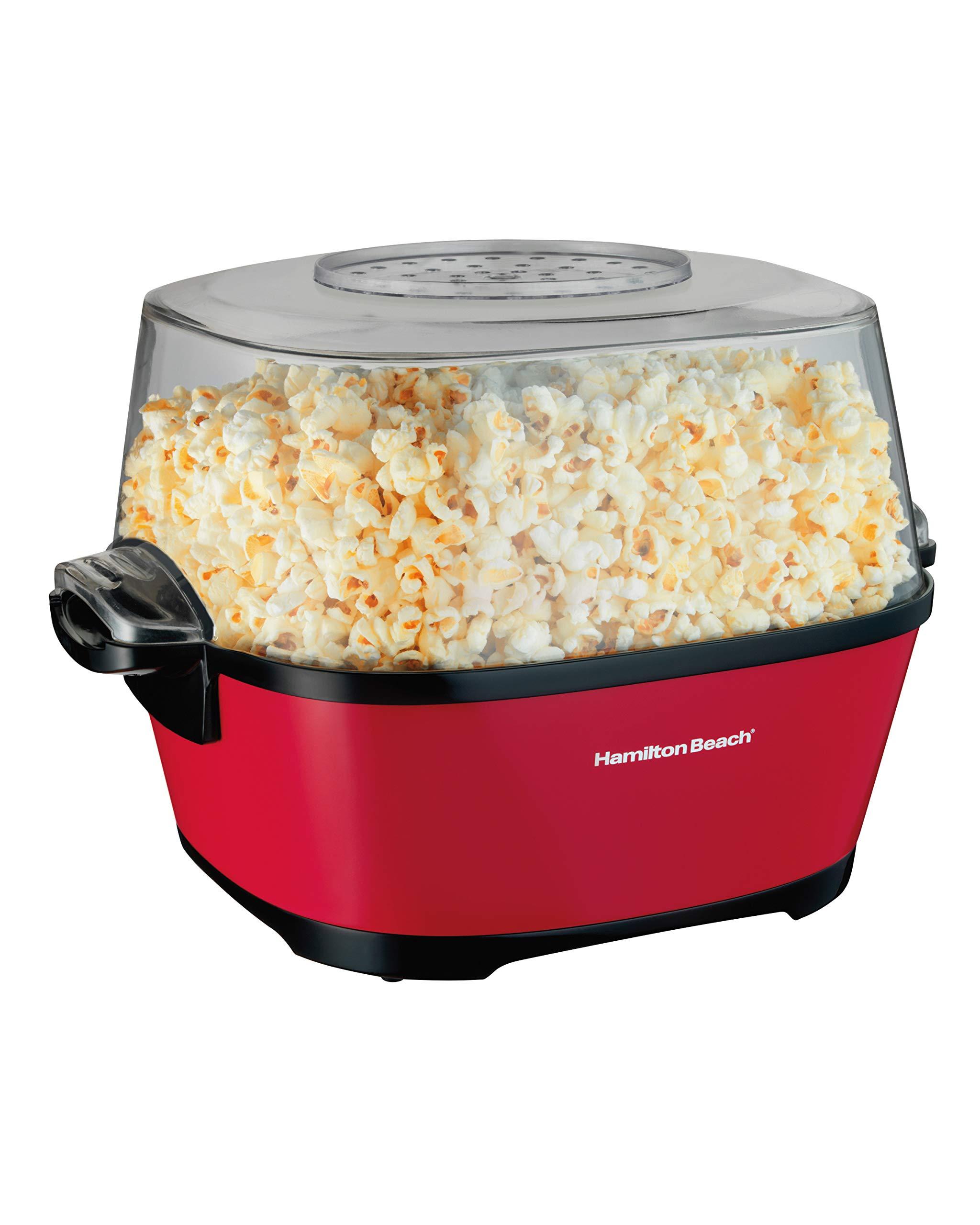 Hamilton Beach 73302 palomitas de maiz poppers - Palomitero (350 x 280 x 240 mm) Negro, Rojo, Transparente: Amazon.es: Hogar