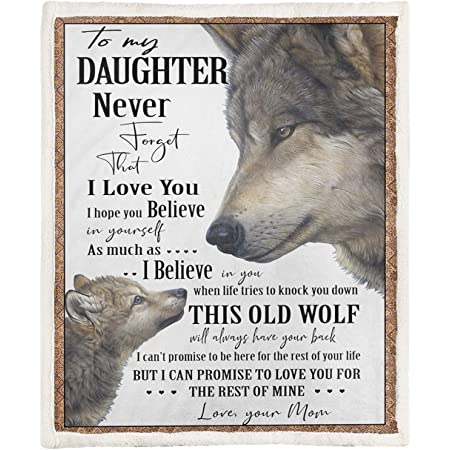 Wolf to my gorgeous wife never forget that I love you my everything blanket