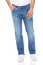 GRMO Men Ripped Holes Denim Straight Distressed Pants