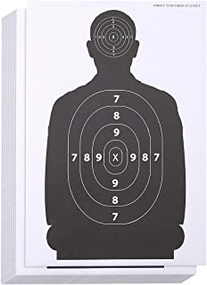 Juvale 50-Sheet Paper Silhouette Range Shooting Targets for Firearms, Rifles, Pistols, BB..