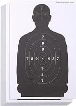 Juvale 50-Sheet Paper Silhouette Range Shooting Targets for Firearms, Rifles, Pistols, BB..