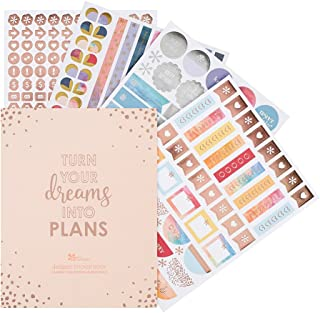 Erin Condren Designer Sticker Book - Classic Edition 3 (10 Pages of Stickers). Decorative and Cute Stickers for Customizing Planners, Notebooks, and More