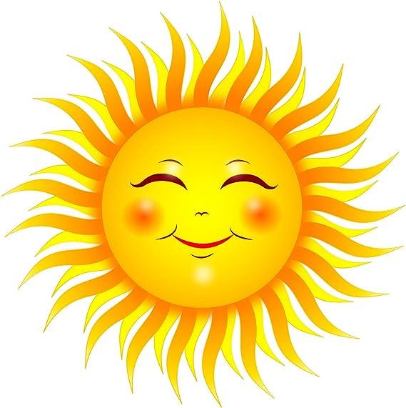 Removable WallArt Sun Art Sun Decorations Sun Decor Nursery Art Sun Vinyl Wall Art Smiling Sun Vinyl Decal Sun Sticker Kids room Art