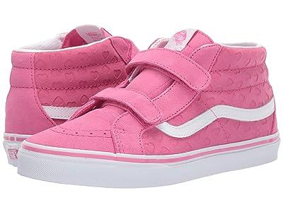 Vans Kids SK8-Mid Reissue V (Little Kid/Big Kid) ((Hearts) Azalea Pink/True White) Girls Shoes