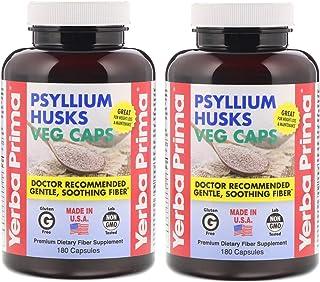 Yerba Prima Psyllium Husk Veg Capsule 180 Cap, 2 Pack