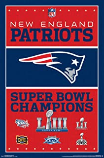 Trends International NFL New England Patriots - Champions Wall Poster, 22.375